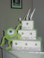 mike with bling cake